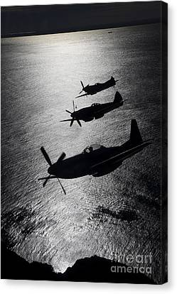 On The Move Canvas Print - P-51 Cavalier Mustang With Supermarine by Daniel Karlsson