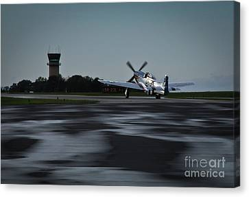 Canvas Print featuring the photograph P-51  by Douglas Stucky