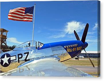 P-51 Hell - Er - Bust Canvas Print by Larry Keahey