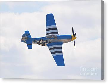 Canvas Print featuring the photograph P-51 Mustang American Rose by Larry Keahey