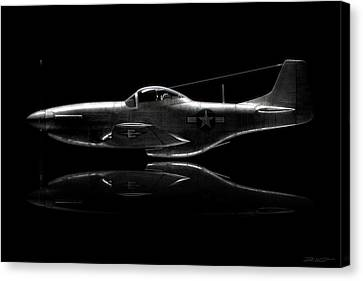 P-51 Mustang Profile Canvas Print by David Collins