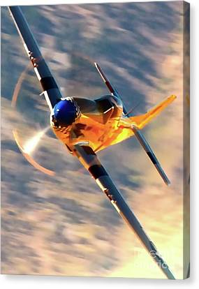 P-51d Grim Reaper And Dan Martin Canvas Print by Gus McCrea