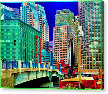 p1070571b  Boston  Bridge Canvas Print by Ed Immar