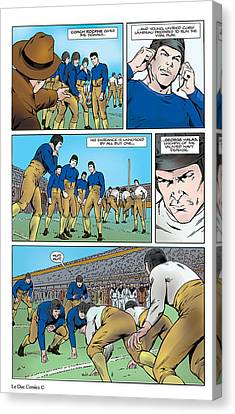 P.2 Gridiron The Beginning Canvas Print by Greg Le Duc Ron Randall