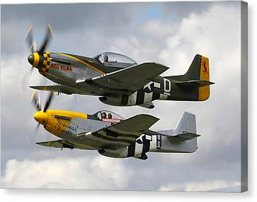 P51 Mustangs Canvas Print