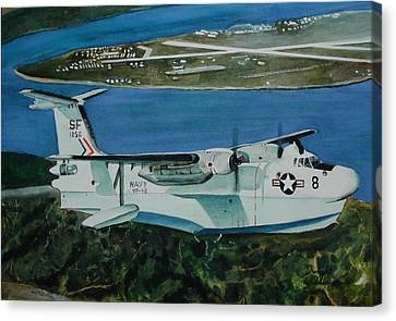 P5m Over North Island Canvas Print by Dwight Williams