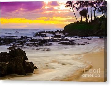 Paako Beach Sunset Jewel Canvas Print by Sharon Mau