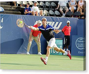 Atp World Tour Canvas Print - Pablo Cuevas Plays At The Winston-salem Open by Bryan Pollard
