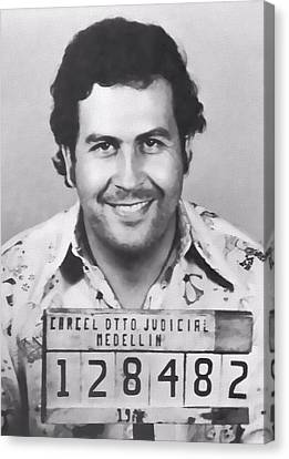 Pablo Escobar Mug Shot Canvas Print