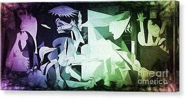 Pablo Picasso Guernica New Age Digital Art Canvas Print by Galambosi Tamas