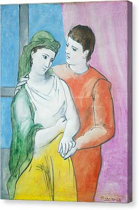 Pablo Picasso Canvas Print by MotionAge Designs
