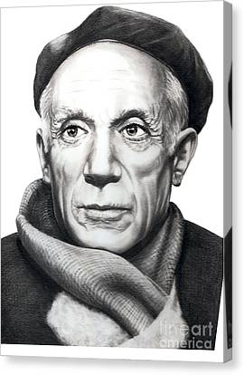 Pablo Picasso Canvas Print by Murphy Elliott