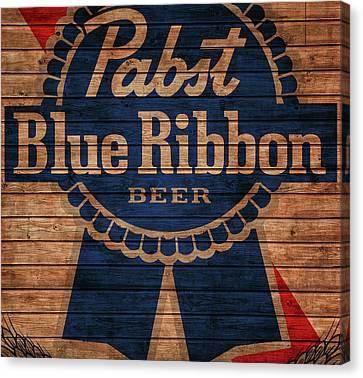 Pabst Blue Ribbon Barn Door Canvas Print