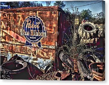 Atlanta Convention Canvas Print - Pabst Blue Ribbon Delievery Truck by Corky Willis Atlanta Photography