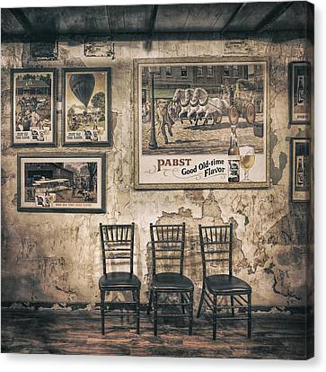 Sepia Tone Canvas Print - Pabst Good Old Time Flavor by Scott Norris