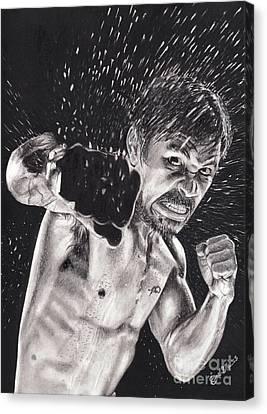 Pac-man Canvas Print by Joshua Navarra