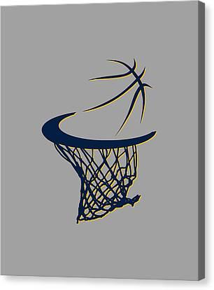 Pacers Basketball Hoop Canvas Print