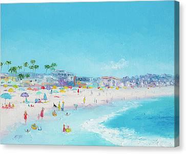 Pacific Beach In San Diego Canvas Print by Jan Matson