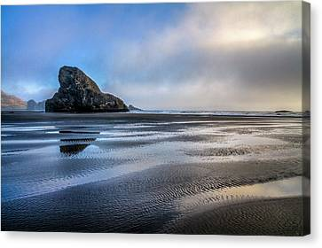 Pacific Coast At Low Tide Canvas Print by Debra and Dave Vanderlaan