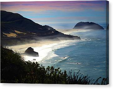 Pacific Coast Highway At Point Sur Ca Canvas Print