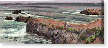 Pacific Coastal Panorama Canvas Print by Donald Maier