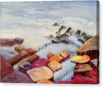 Pacific Coastline Canvas Print by Nancy Shen