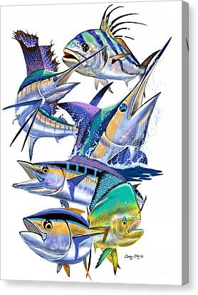 Pacific Gamefish  Canvas Print by Carey Chen