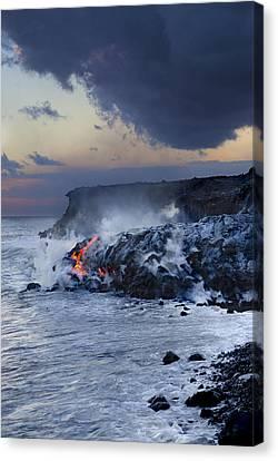 Pacific Lava Flow Canvas Print by Dave Fleetham - Printscapes