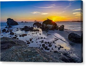 Pacific Ocean Northern California Sunset Canvas Print by Scott McGuire