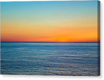 Canvas Print featuring the photograph Pacific Ocean Sunset by April Reppucci
