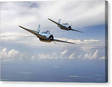 Pacific Patrol Canvas Print by Peter Chilelli