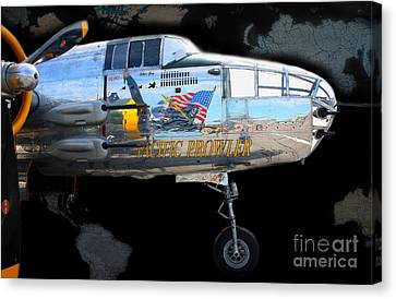 Pacific Prowler Canvas Print by Barbara Teller
