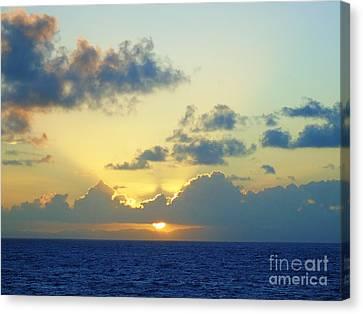 Pacific Sunrise, Japan Canvas Print by Susan Lafleur