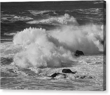 Pacific Surf Canvas Print by Mark Alan Perry