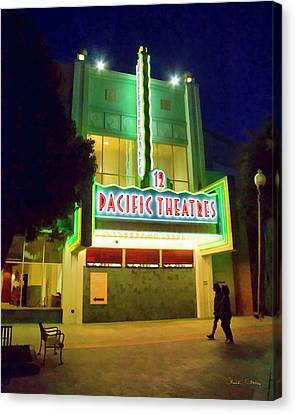 Canvas Print featuring the photograph Pacific Theater - Culver City by Chuck Staley