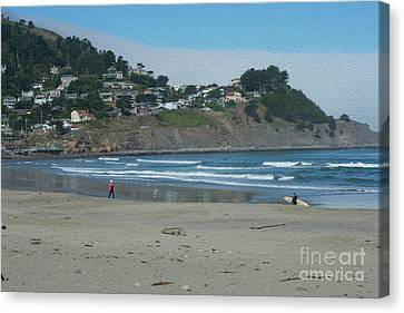 Canvas Print featuring the photograph Pacifica California by David Bearden