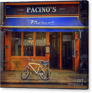 Pacino's Garda Bicycle Canvas Print by Craig J Satterlee