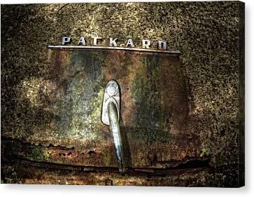 Packard Emblem Canvas Print by Debra and Dave Vanderlaan