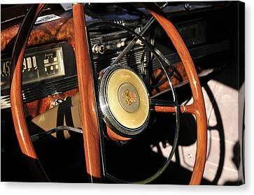 Packard Steering Wheel Canvas Print by David Lee Thompson