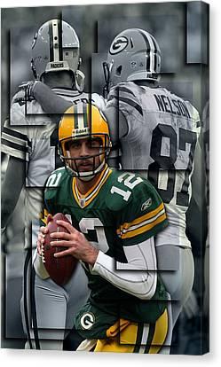 Packers Aaron Rodgers 2 Canvas Print by Joe Hamilton