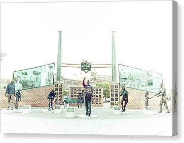 Canvas Print featuring the photograph Packers Heritage Trail by Joel Witmeyer