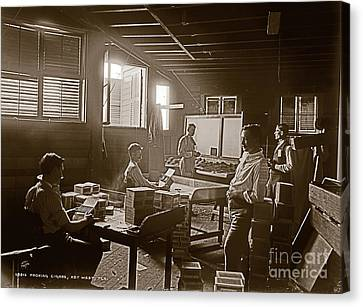 Canvas Print featuring the photograph Packing Cigars Key West Florida by John Stephens