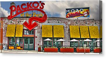 Packo's At The Park Canvas Print