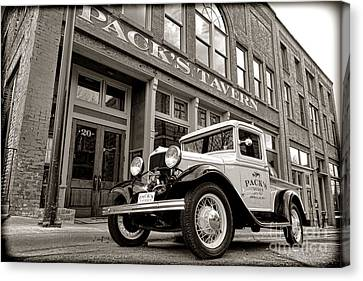 Old Fords Canvas Print - Pack's Tavern Nostalgia by Olivier Le Queinec