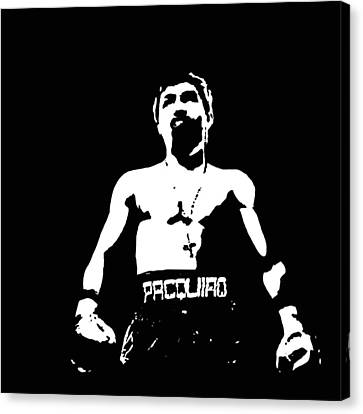 Pacquiao Canvas Print by Elvin Dantes