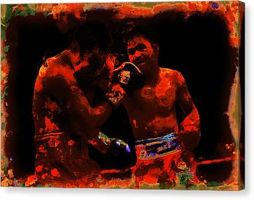 Pacquiao Putting In Work Canvas Print by Brian Reaves