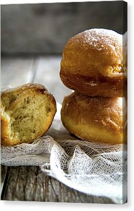 Paczki Doughnuts... A Polish Tradition Canvas Print by Deborah Klubertanz