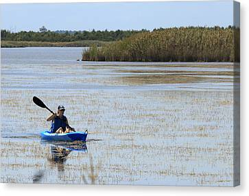 Paddle Away Canvas Print