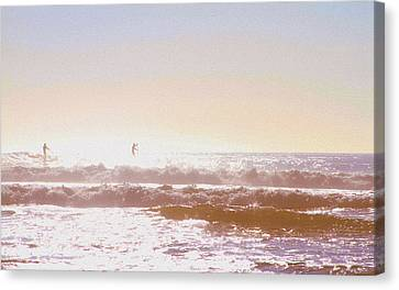 Paddleboarders Canvas Print
