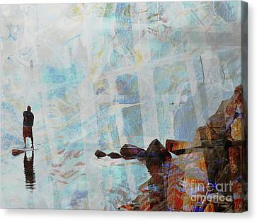 Paddleboarding Canvas Print by Robert Ball